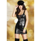 Chilirose CR 3577  Leatherlook Minidress