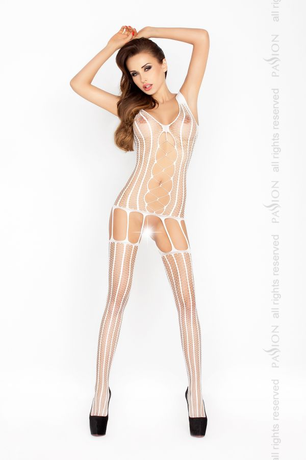 Bodystocking Passion BS013 bílá