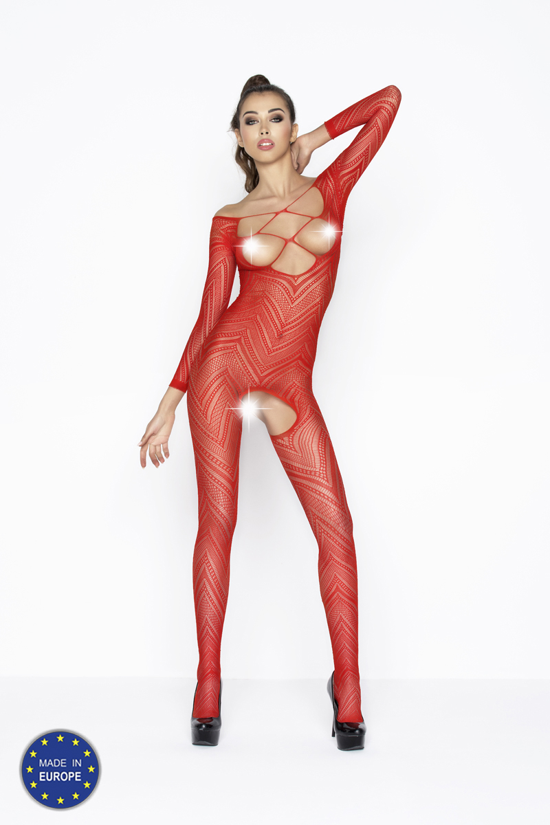 Bodystocking BS040 red červená