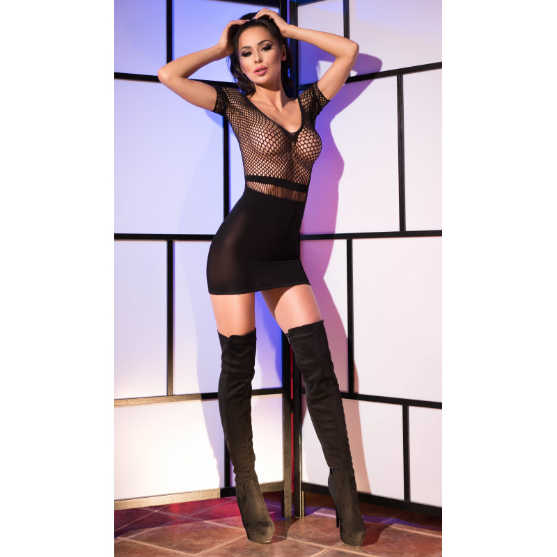 Chilirose Black superstretch Seamless Minidress