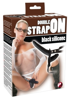 You2Toys Black silicone Double Strap On