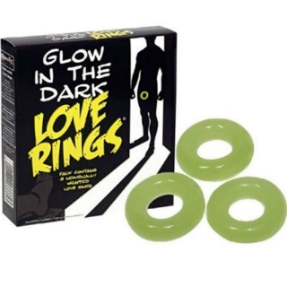 Spencer & Fleetwood Glow in the dark Love Rings