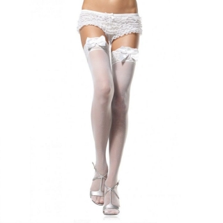 LEG AVENUE SHEER AND OPAQUE THIGH HIGHS