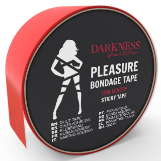 DARKNESS STICKY TAPE RED 15M
