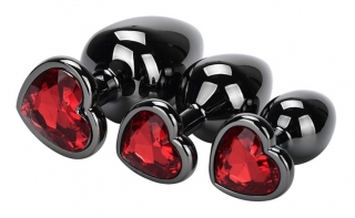 Lovetoy Black Anal Plug HEART